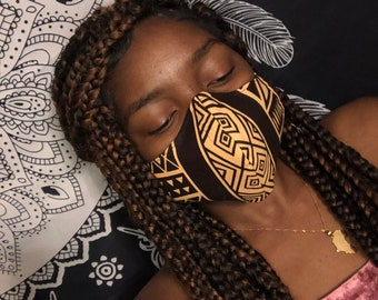 African Print Fabric Mask