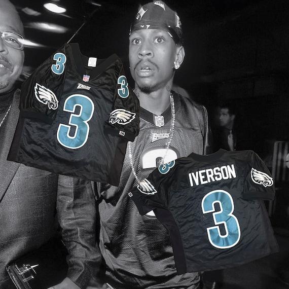 Allen Iverson Philadelphia Eagles Jersey Size Small36 | Etsy