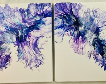 Deep Violet and Turquoise, Diptych