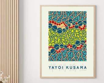 Yayoi Kusama Exhibition Poster Replica Modern Art Aesthetic Poster Salon Decor Wall Art Museum Print Home Decor