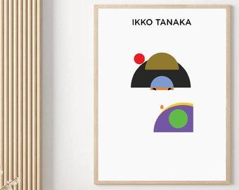 Ikko Tanaka Decor Japanese Art Poster Abstract Art Print Replica