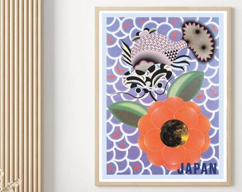 Kazumasa Nagai Vintage Exhibition Poster Replica Japanese Poster Minimal Art Japanese Art Poster Abstract Print