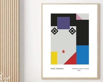 Ikko Tanaka Japanese Poster Abstract Art Print Poster Replica Aesthetic Poster Salon Decor Home Deco