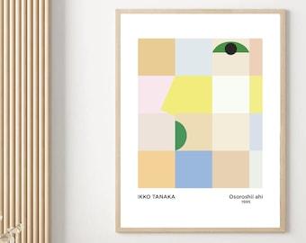 Ikko Tanaka Japanese Poster, Abstract Art Print Replica