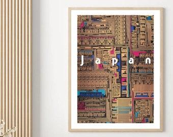 Yusaku Kamekura Exhibition Poster Replica Japan Vintage Wall Art Abstract Print Salon Decor Museum Print