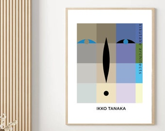 Ikko Tanaka Japan Poster Art Exhibition Replica Aesthetic Poster Salon Decor Home Decor