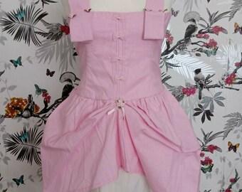 Rubebee* Handmade Cotton Pink Sissy Lolita Kawaii Rococo Dress Size 16