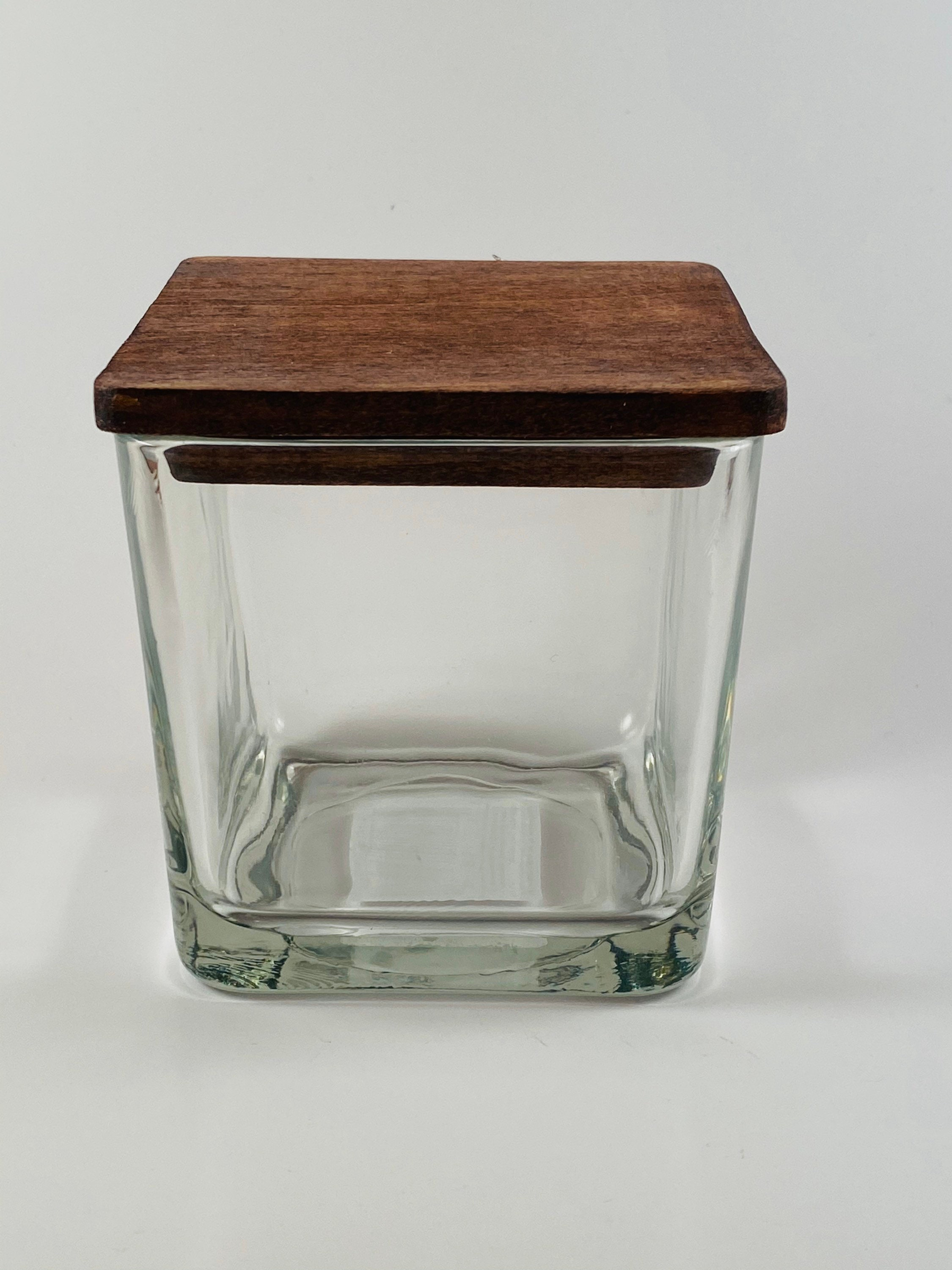 price for 9 in total Square Candle Lids with Glass Jars