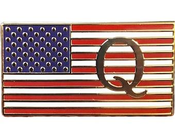 Philadelphia City USA Flag Tie Clip Engraved in Pouch
