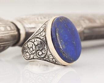 Men/'s Women Braided Bracelet 6mm Lapis Lazuli 925 Sterling Silver Spacers 851