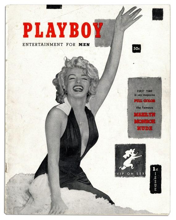 Marilyn Monroe Nude Photo 1953 Playboy Magazine Collectible | Etsy