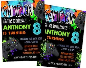 Video Game Party, Game Party, Gamer Party, Gaming Invitation, Digital Invitation, Custom Invitation