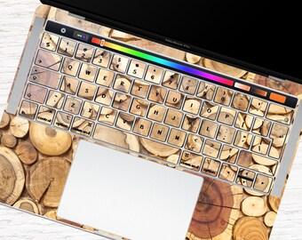 Wood MacBook keyboard wood texture MacBook keys decal wood board MacBook pro sticker MacBook Air keypad skin MacBook Retina case KB083