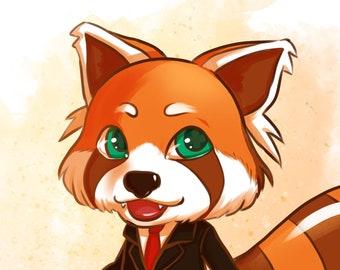 Custom furry character, Fursona commission, furry art commission, chibi commission, personalized animal character, commission digital art