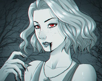 Dnd black and white or monochrome character commission digital art, character art, RPG Custom Character Portrait, dnd commission drawing