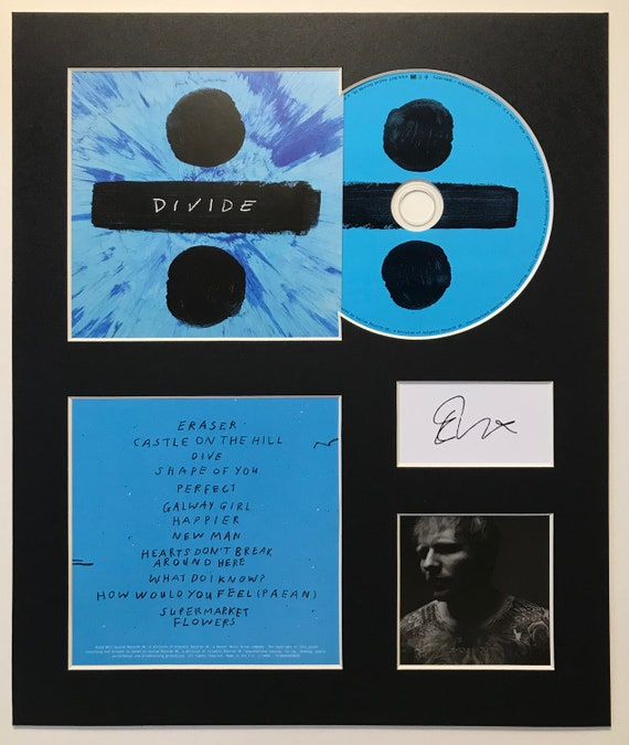 Ed Sheeran Signed Mounted Photo Display