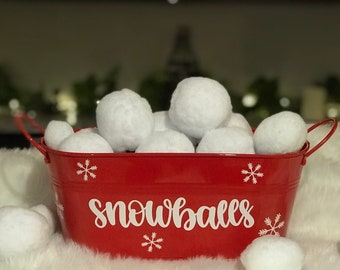 Snowball Fight Party Snowball Kits Christmas Party Favor Soft Snowballs Snowball Fun SNOWBALL FIGHT KIT Kids Christmas Kits Snowballs