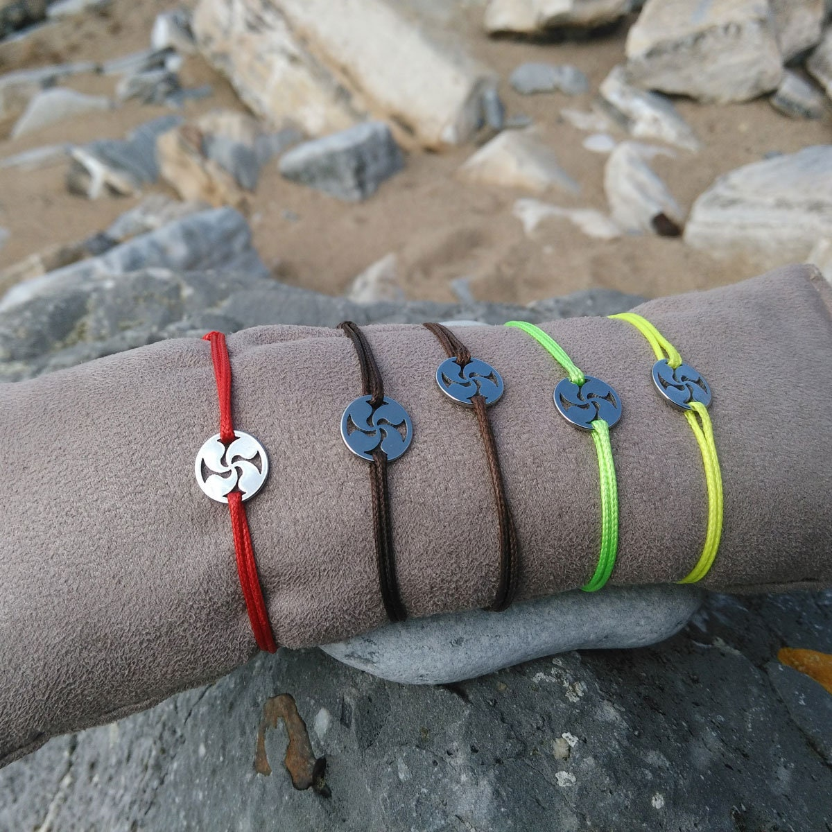 Made On Terra Basque Cross Lauburu Euro European Italian Style Bracelet Bead Sqr Charm