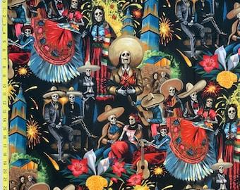 Alexander Henry Fiesta de San Marcos Fabric Cotton Day of the Dead