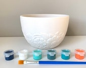 Paint and Plant, Succulent Planter, DIY Pottery Painting Kit, Cactus Planter, At home pottery kit, Planter kit, paint party idea for adult