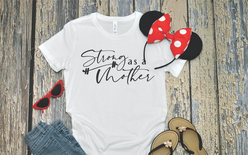 Strong as a Mother Tee Mom t-shirt Cool Mom Mom Tee Strong image 0