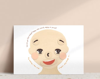 Making Faces Printable (Medium Skin) • Emotions and Feelings Activity • Emotional Development • Download • Learning