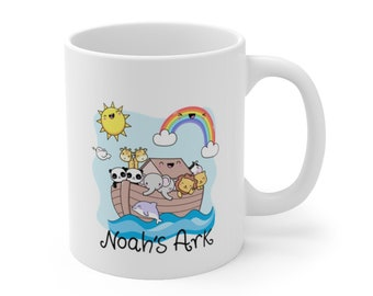 #3771  Pin Cushion 14oz net Pincushion Sewing Caddy Noah/'s Ark Ceramic Mug W Pincushion Cover  6 W by 5.5 H