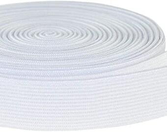 6mm LaModaHome White Elastic Band 1//4 inches Width 20 Yards