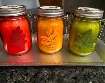 Pumpkin Apple Butter Cake Candles with Wood Wicks