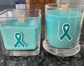 Ovarian Cancer Awareness Candles
