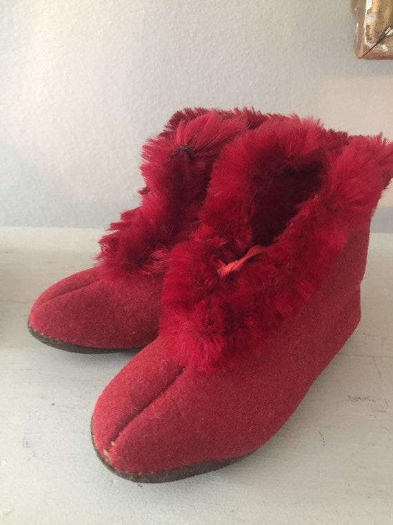 Red Victorian Slippers