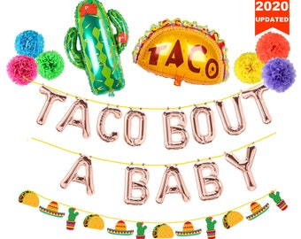 Avezano Taco Bout A Baby Backdrop 7x5ft Fiesta Baby Shower Party Decorations Mexican Fiesta Baby Shower Party Banner Photography Background
