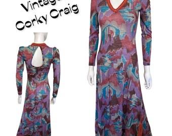 Vintage 1970/'s Carol Craig Maxi dress