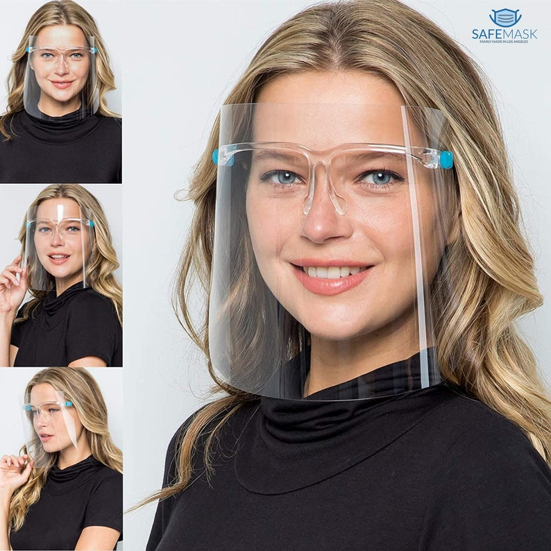 Anti-fog Reusable Face Shields with Glasses Frame Set image 0