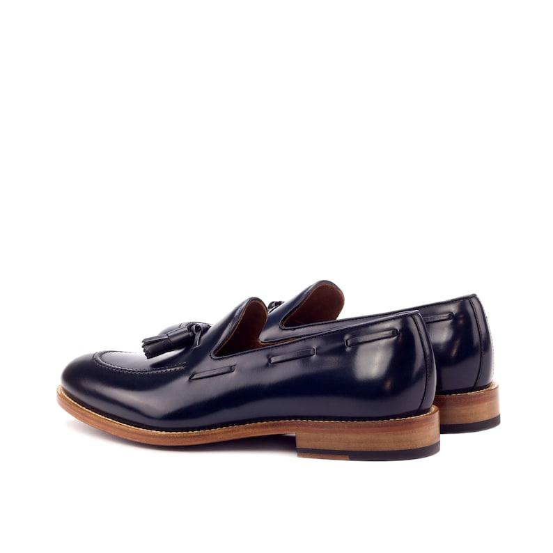 Box Calf Tassel Loafer in Navy