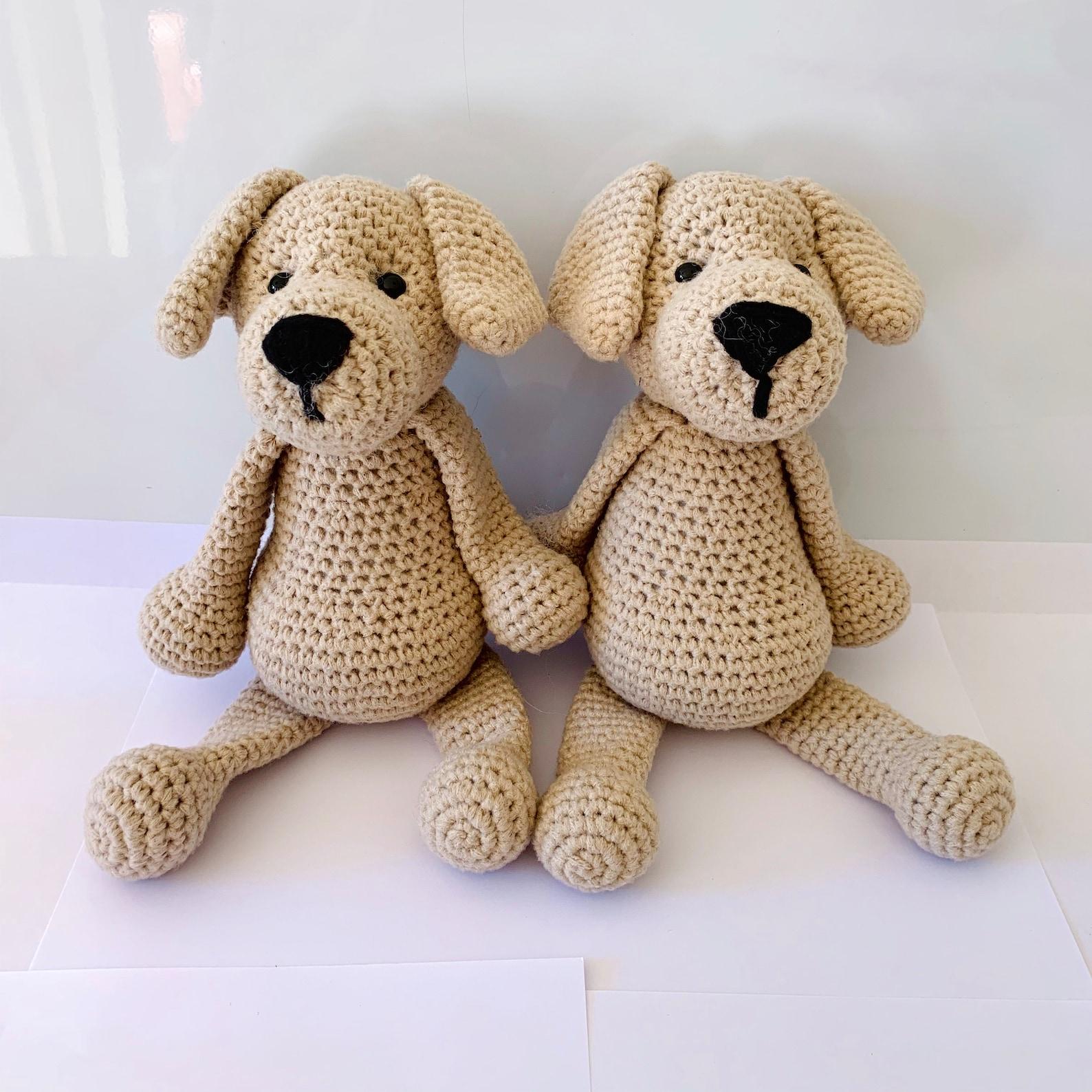 Labrador crochet toy