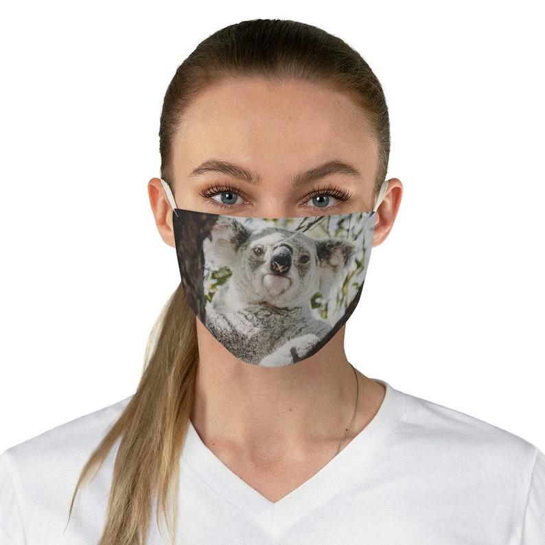KOALA BEAR MASK Washable Face Mask Reusable Face Mask Half ...
