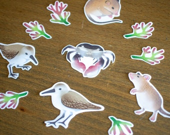 STICKERS    Marshland Minis Set [11 Waterproof Vinyl Stickers]