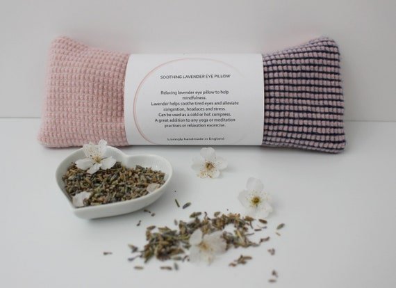 Soothing Lavender Eye Pillow, 100% Lambswool cover