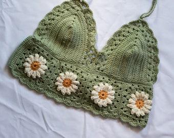 Daisy Bralette | Handmade Crochet Bralette with adjustable strings