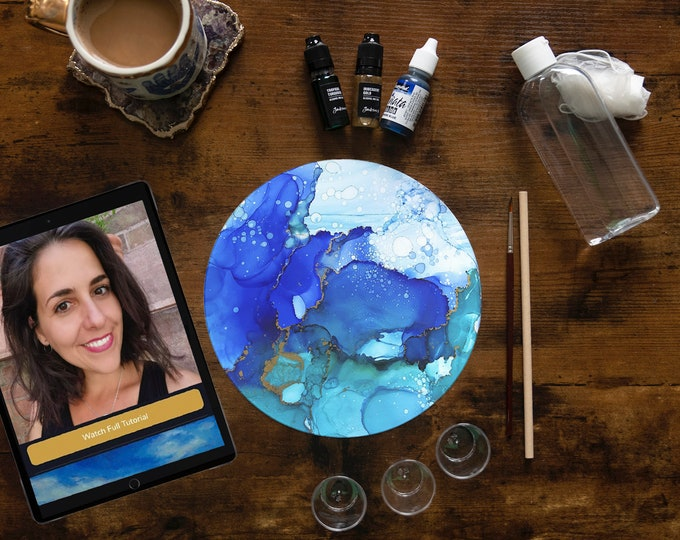 Alcohol Inks Painting Kit with Grace Bull