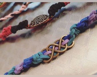 Intentional Braided Faux Suede Leather Bracelets