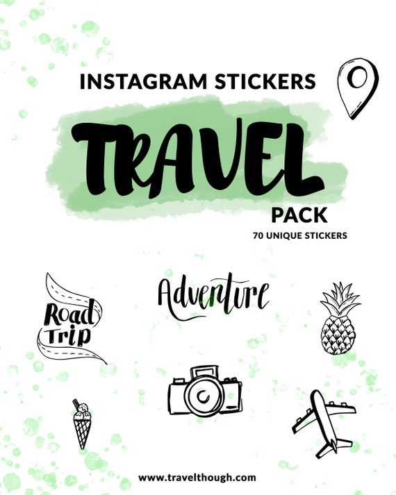 HOLIDAY /& TRAVEL SET+40 Instagram Story Stickers