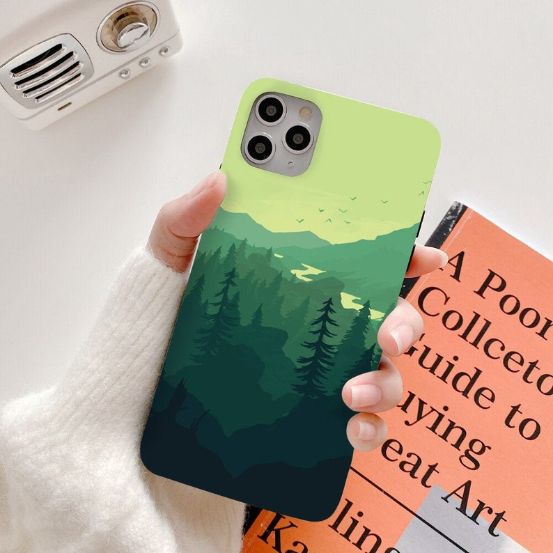 8 XS max 11 Mountain Phone Case X 11 pro max 11 pro Flower Iphone Case Flexi Case For iPhone 7 Samsung Galaxy s8 s9 s10 s20 Case