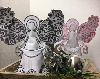 The Monstis Angel Tealight 6 sizes 10x10 to 24x36 Embroidery File Guardian Angel Christmas