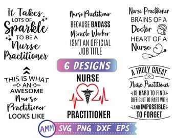 Nurse Practitioner svg, Bundle NP svg, Nurse practitioner Bundle svg, nursing svg, nurse svg, Eps, Dxf, Png