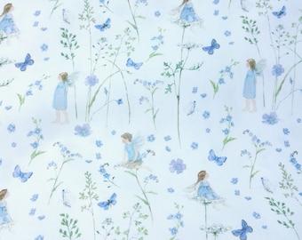 20,-/meter, magical acufactum elven garden blue, metre ware, fabric, cotton, ST2