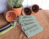 Herb plant markers.