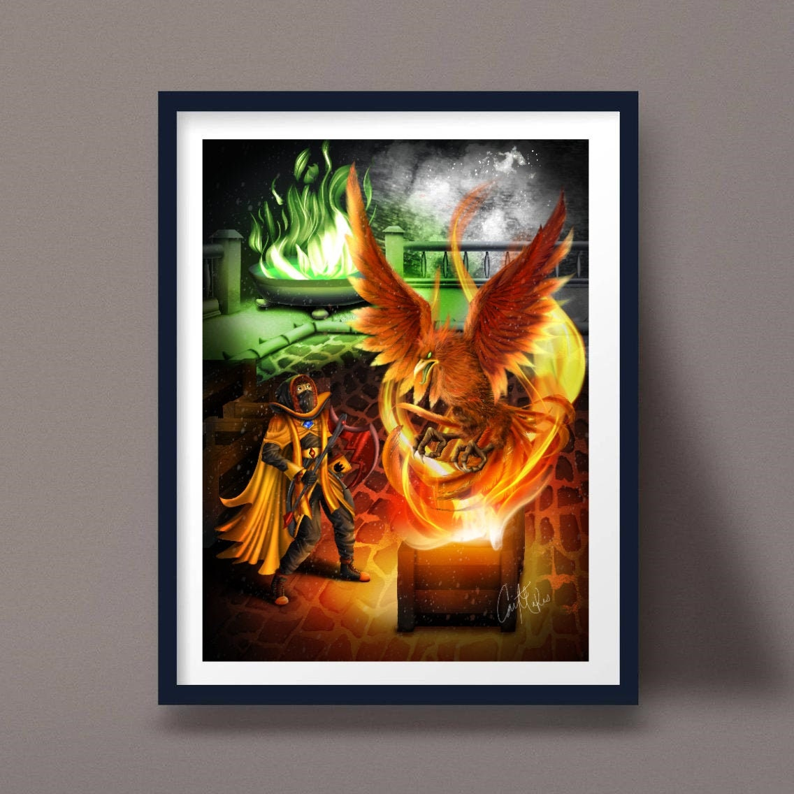 Fantasy Bands Artists Custom Art Poster or Canvas Anime Video Games