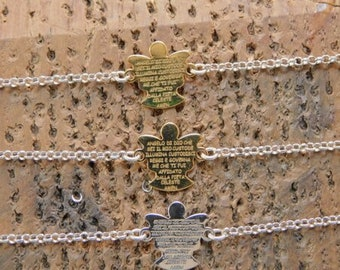 Silver 926 Bracelet with Angel and Prayer